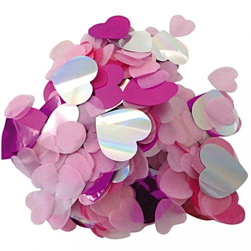 Mix coriandoli - Rosa/fucsia/iridescenti