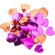 Coriandoli cuori maxi - Rosso e rosa