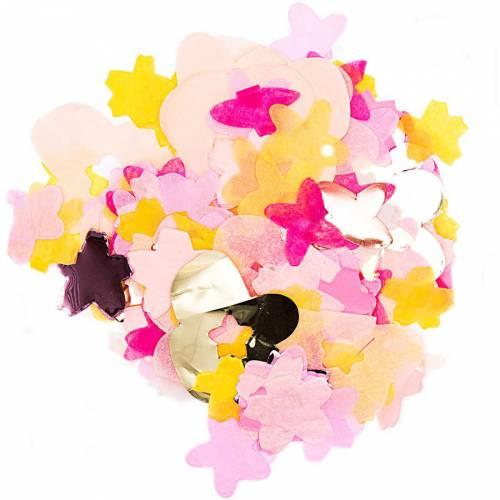 Coriandoli mix fiori - Rosa