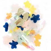 Coriandoli mix fiori - Blu