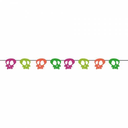 Ghirlanda scheletro neon
