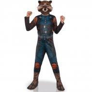 Costume Rocket Raccoon + Maschera 8-10 anni