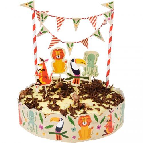 """Kit decorazioni per torte con animali """"Colorama"""""""