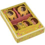 Kit 24 Pirottini e decorazioni per cupcake Signora Riccio