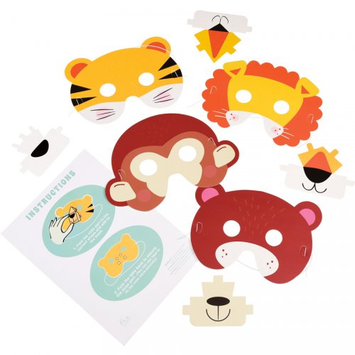 4 Maschere animali 3D - Carta