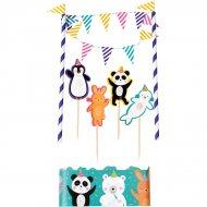 "Kit decorazioni per torte ""Panda Party"""