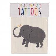 2 Tatuaggi di elefanti e balene