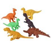 6 Gomme per cancellare Dino Vintage