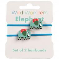 2 Elastici Capelli Elefante