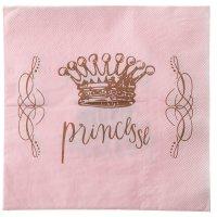 Contiene : 1 x 20 Tovaglioli Principessa Rosa