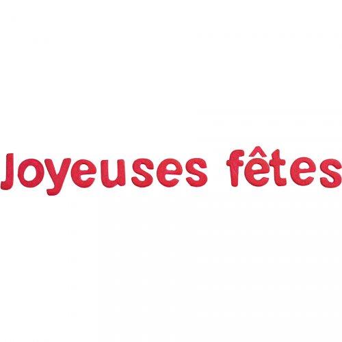 "Scritta ""Joyeuses Fêtes"" - Fucsia"