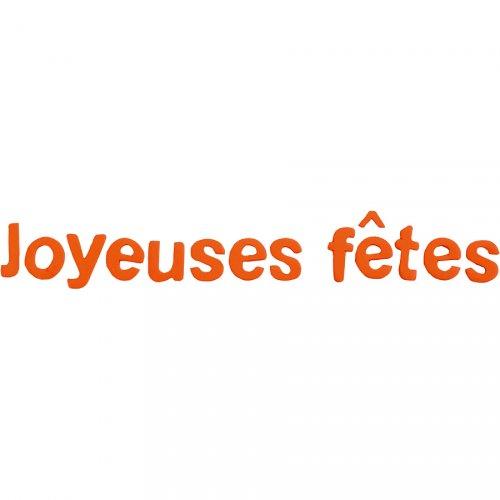 """Scritta """"Joyeuses Fêtes"""" - Arancione"""