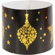 6 Portatovaglioli Natale Chic Nero