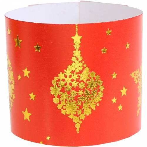 6 Portatovaglioli Natale Chic Rosso