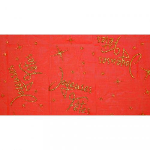 Tovaglia Buone Feste Rossa (145 x 250 cm) - Organza