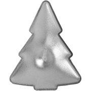 4 Candele Abete Argento (5 cm)