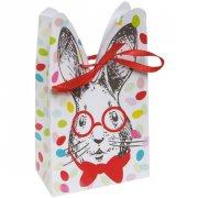 4 Confezioni regalo - Coniglio con fondo a pois