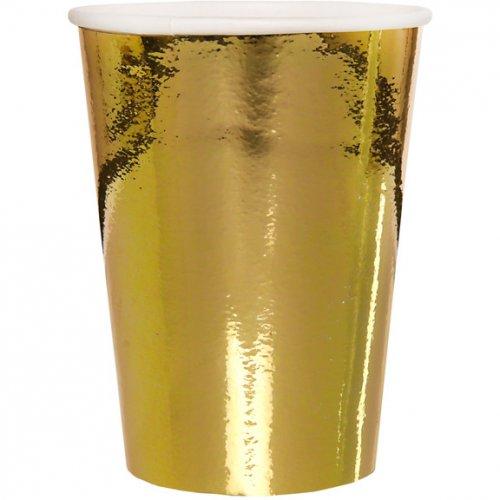 10 Bicchieri Laminati in Oro