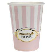 10 Bicchieri Mademoiselle Baby Rosa
