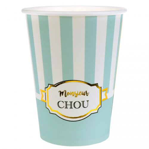 10 Bicchieri Monsieur Chou Turchese