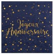 20 Tovagliolini Buon Compleanno Blu Notte