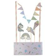 Kit decorazioni per torte - Unicorno
