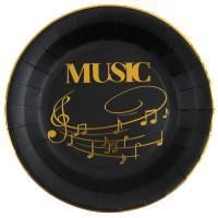 Contiene : 1 x 10 Piatti Musica - Oro Nero
