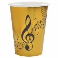 Contiene : 1 x 10 Bicchieri Musica - Oro Nero