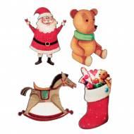 12 Coriandoli Babbo Natale