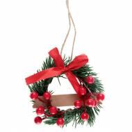 Segnaposto Corona di Natale Rosso