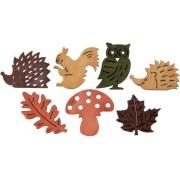 27 Mini Decorazioni Autunnali Multicolori - Legno