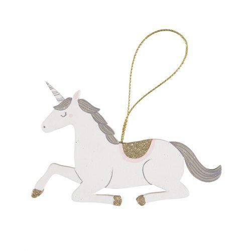 Addobbo Natalizio Unicorno Sweetie (11 cm) - Legno