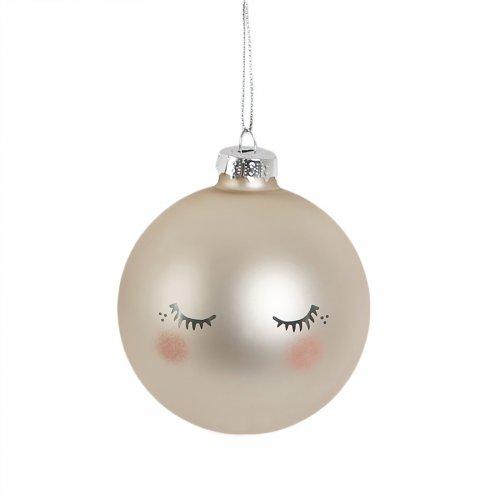 Palla di Natale Dolce Notte Perlata (6 cm) - Vetro