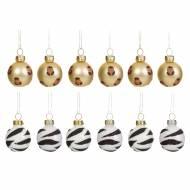 12 Mini Palle di Natale Savana (3 cm) - Vetro