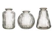 Set di 3 Vasi - Trasparente