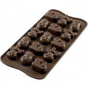 Stampo Easy Choc 15 Cioccolatini Choco Winter 3D - Silicone