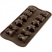 Stampo Easy Choc 12 Motivi Natalizi 3D - Silicone