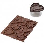 Kit Cookie Choc Biscotti Cuore con Ricettario