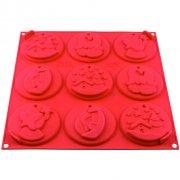 Stampo 9 Biscotti di Natale da appendere (8 cm) - Silicone