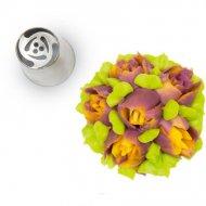 Beccuccio Fiore 3D (2,5 cm) - Acciaio