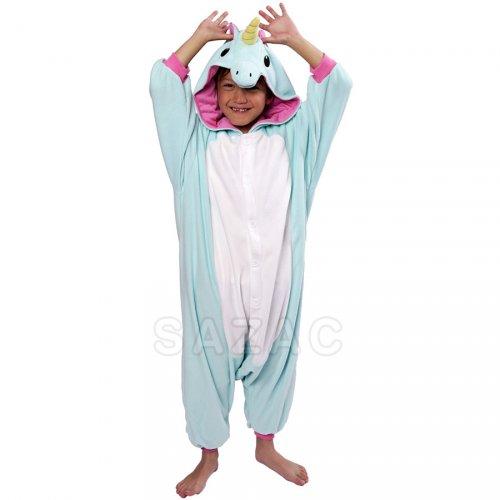 Pigiama Kigurumi Unicorno Blu Bambino