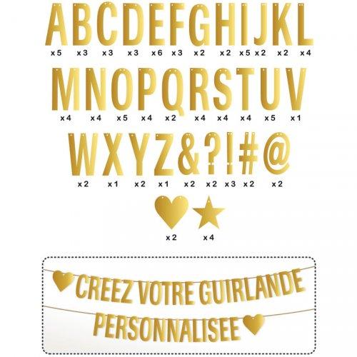 Ghirlanda di lettere d oro da personalizzare (8 m)
