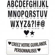 Ghirlanda di lettere nere da personalizzare
