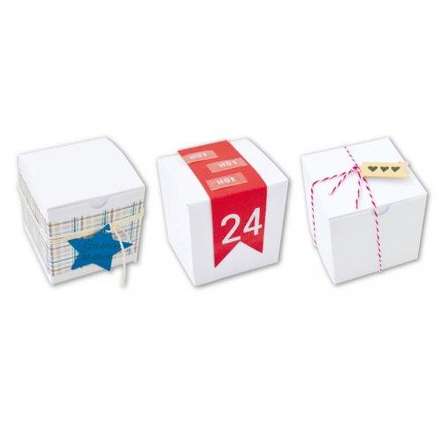 6 Mini Scatole (5,5 cm) da Decorare - Cartone Bianco