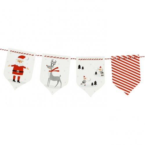 Ghirlanda reversibile Santa Claus Babbo Natale