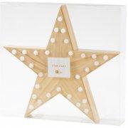 Stella Luminosa Starlight (33 cm) - LED e legno