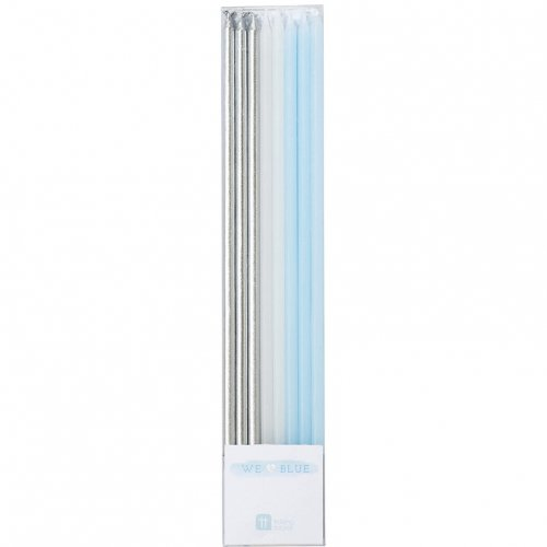 16 Candele Lunghe Love Blue (17 cm)