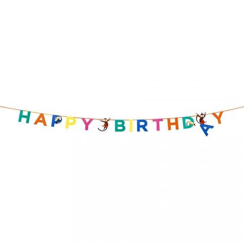 Ghirlanda Happy Birthday Jungle Fun (3,50 m)