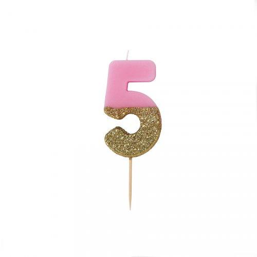 Candela Pinky Oro Numero 5