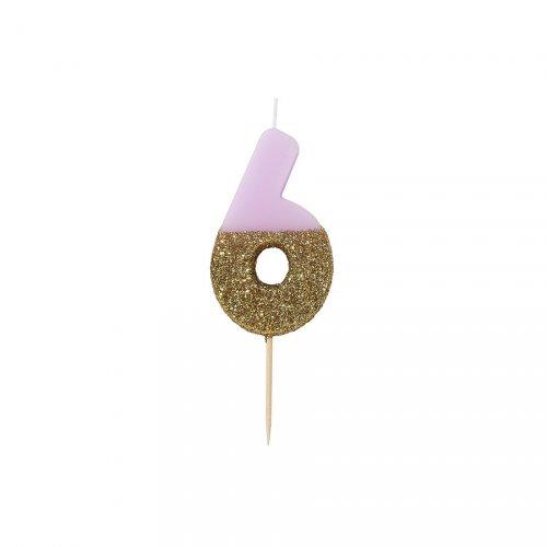 Candela Pinky Oro Numero 6
